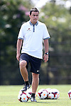 31 August 2014: Elon head coach Chris Little (ENG). The Elon University Phoenix played the Loyola Marymount University Lions at Koskinen Stadium in Durham, North Carolina in a 2014 NCAA Division I Men's Soccer match. Elon won the game 1-0.