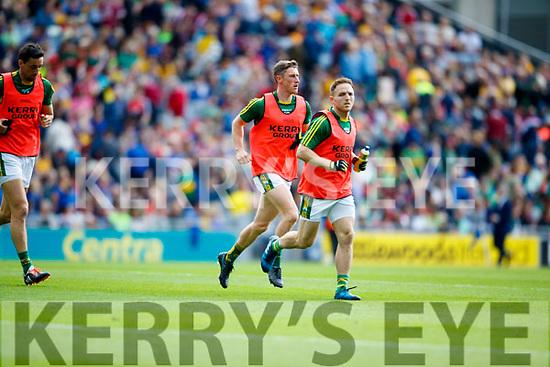 Jonathan Lyne and Darran O'Sullivan Kerry v Galway in the All Ireland Senior Football Quarter Final at Croke Park on Sunday.