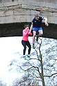 01/01/2017<br /> <br /> New Year's Day revellers jump off Mappleton Bridge into the river below near Ashbourne in the Derbyshire Peak District. Donations were made for a local boy who was recently diagnosed with cancer. <br /> <br /> All Rights Reserved: F Stop Press Ltd. +44(0)1773 550665 &nbsp; www.fstoppress.com