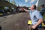 Lompocolypse, owner Jerry playing cornhole.