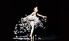 Les Ballets Trockadero de Monte Carlo <br /> at the Peacock Theatre, London, Great Britain <br /> press photocall <br /> 16th September 2015 <br /> <br /> <br /> Dying Swan <br /> <br /> Joshua Thake as Eugenia Repelskii <br /> <br /> <br /> <br /> Photograph by Elliott Franks <br /> Image licensed to Elliott Franks Photography Services