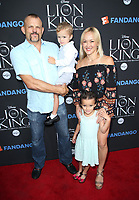 "05 August 2017 - Los Angeles, California - Chuck Liddell, Heidi Northcott, Brendan Liddell, Trista Liddell. ""The Lion King"" Sing-Along Screening. Photo Credit: F. Sadou/AdMedia"