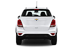 Straight rear view of a 2019 Chevrolet Trax LS 5 Door SUV stock images