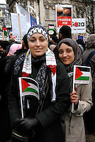 A 'Stop the massacre in Gaza' demonstration called by the Stop the War Coalition, the Muslim Association of Britain and the Palestine Solidarity Group. <br /> Birmingham, England. 17th January 2009