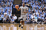 CHAPEL HILL, NC - DECEMBER 30: Wake Forest's Brandon Childress. The University of North Carolina Tar Heels hosted the Wake Forest University Demon Deacons on December 30, 2017 at Dean E. Smith Center in Chapel Hill, NC in a Division I men's college basketball game. UNC won the game 73-69.
