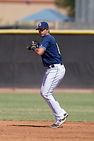 San Diego Padres shortstop Hudson Potts (10) during an Instructional League game against the Milwaukee Brewers on September 27, 2017 at Peoria Sports Complex in Peoria, Arizona. (Zachary Lucy/Four Seam Images)
