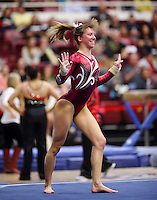 Stanford, CA; Sunday January 12, 2014: Women's Gymnastics, Stanford vs Georgia.
