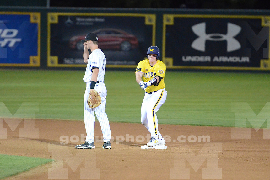 The University of Michigan baseball team dropped their season opening game to Long Beach State University in Long beach, CA 3-2. February 13, 2015