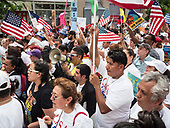 Washington, DC, USA 01 May 2017. Labor Day or May Day is observed all over the world on the first day of the May to celebrate the economic and social achievements of workers and fight for laborers rights.