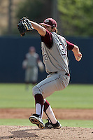 Michael Wacha #38 of the Texas A&M Aggies pitches against the Pepperdine Waves at Eddy D. Field Stadium on March 23, 2012 in Malibu,California. Texas A&M defeated Pepperdine 4-0.(Larry Goren/Four Seam Images)