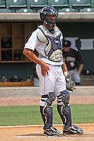 Charleston Riverdogs catcher Gary Sanchez #35 behind the plate during a game against the Delmarva Shorebirds at Joseph P. Riley Ballpark in Charleston, South Carolina on July 10, 2011. Charleston defeated Delmarva 2-0.   Robert Gurganus/Four Seam Images
