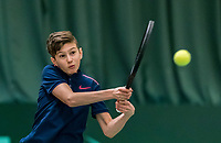 Wateringen, The Netherlands, March 16, 2018,  De Rhijenhof , NOJK 14/18 years, Nat. Junior Tennis Champ. Wester Klerk (NED)<br />  Photo: www.tennisimages.com/Henk Koster
