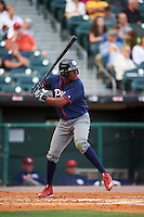 Lehigh Valley IronPigs center fielder Darnell Sweeney (24) at bat during a game against the Buffalo Bisons on July 9, 2016 at Coca-Cola Field in Buffalo, New York.  Lehigh Valley defeated Buffalo 9-1 in a rain shortened game.  (Mike Janes/Four Seam Images)