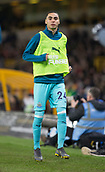 11th February 2019, Molineux, Wolverhampton, England; EPL Premier League football, Wolverhampton Wanderers versus Newcastle United; Miguel Almiron of Newcastle United warming up on the side line at the start of the second half