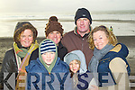 Pictured at Ballyheigue races on New Year's Day were l-r: Amanda Bentley Curran, Luke Bentley Curran, David Bentley, Erin Bentley, Peter Curran and Anne Bentley..
