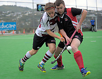 Action from the National Senior Tournament men's hockey match between Counties Manukau and North Harbour at National Hockey Stadium in Wellington, New Zealand on Thursday, 21 October 2017. Photo: Dave Lintott / lintottphoto.co.nz