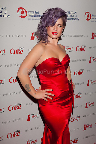 NEW YORK, NY - FEBRUARY 6: Kelly Osbourne in Zac Posen attends The Heart Truth Red Dress Collection 2013 Fashion Show on February 6, 2013 in New York City. © Diego Corredor/MediaPunch Inc. ...