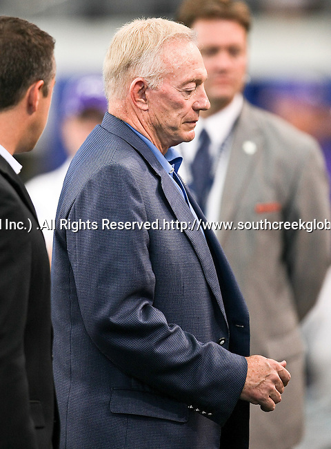 Dallas Cowboys team owner Jerry Jones before the game between the Oregon State Beavers and the TCU Horned Frogs at the Cowboy Stadium in Arlington,Texas. TCU defeated Oregon State 30-21.