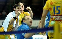 Handball Frauen / Damen  / women 1. Bundesliga - DHB - HC Leipzig : Frankfurter HC - im Bild: Auch diese Schreie haben nicht geholfen - Anne Müller und Maike Daniels . Foto: Norman Rembarz .