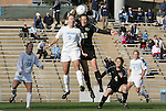 27 November 2009: North Carolina's Whitney Engen (9) and Wake Forest's Bess Harrington (22). The University of North Carolina Tar Heels defeated the Wake Forest University Demon Deacons 5-2 at Fetzer Field in Chapel Hill, North Carolina in an NCAA Division I Women's Soccer Tournament Quarterfinal game.