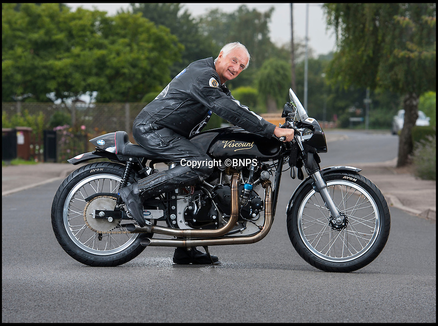 BNPS.co.uk (01202 558833)<br /> Pic: PhilYeomans/BNPS<br /> <br /> Plucky pensioner Eric Patterson is celebrating after setting a string of two-wheeled land speed records - at the tender age of 68.<br /> <br /> Former painter and decorator Eric has smashed four world records on his motorbike after discovering a daredevil streak in his early 60s.<br /> <br /> Eric has ridden motorbikes all his life but only found a love for setting speed records in 2008 following divorce after 28 years of marriage followed by a cancer scare.<br /> <br /> The unlikely record breaker has since become an expert at coaxing powerful bikes to speeds of more than 130mph at the world renowned Bonneville salt flats in Utah, USA.