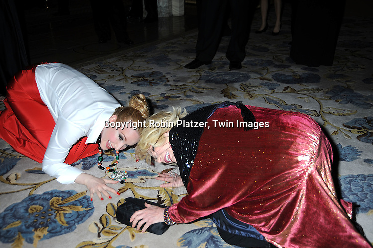 """actress Katie Finneran and Joan Rivers arriving at The Broadway Opening Night party of the revival of """"Promises, Promises"""" on April  25, 2010 at The Plaza Hotel in New York City."""