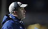 Cold Spring Harbor varsity football head coach Jon Mendreski calls out to his players during their 27-7 win over Seaford in the Nassau County Conference IV final at Shuart Stadium in Hempstead on Friday, Nov. 16, 2018.