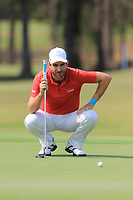 Alejandro Canizares (ESP) on the 9th green during Round 3 of the Australian PGA Championship at  RACV Royal Pines Resort, Gold Coast, Queensland, Australia. 21/12/2019.<br /> Picture Thos Caffrey / Golffile.ie<br /> <br /> All photo usage must carry mandatory copyright credit (© Golffile | Thos Caffrey)