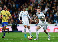 Real Madrid's Toni Kroos and UD Las Palmas'  during La Liga match. November 5,2017. (ALTERPHOTOS/Inma Garcia)