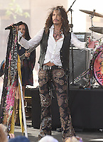 New York,NY-May 9: Steven Tyler performs on NBC's 'Today' at Rockefeller Plaza on June 24, 2016 in New York City. @John Palmer / Media Punch