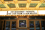Theatre Marquee for the Opening Night Premiere of 'The Cher Show' at the Oriental Theatre on June 28, 2018 in Chicago.