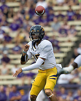 Zach Maynard of California throws the ball during the game against Washington at Seattle, Washington on September 24th, 2011.  Washington defeated California 31-23.