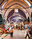 TURKEY, Istanbul, interior of Grand bazaar at shopping market