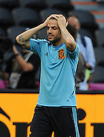 Football - Spain Training - Donbass Arena, Donetsk, Ukraine - 22/6/12..Spain's Cesc Fabregas during training..Mandatory Credit: Action Images / Henry Browne..Livepic