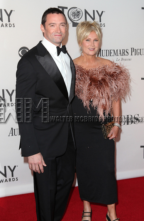 Hugh Jackman and Deborra-Lee Furness pictured at the 66th Annual Tony Awards held at The Beacon Theatre in New York City , New York on June 10, 2012. © Walter McBride / WM Photography