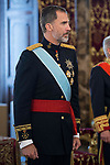 Sr Dylan Vernon, ambassador of Belice, attends to give credentials to King Felipe VI of Spain at Real Palace in Madrid, June 15, 2017. Spain.<br /> (ALTERPHOTOS/BorjaB.Hojas)
