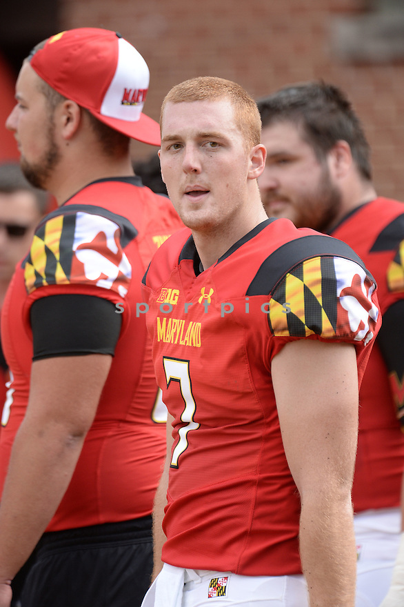 Maryland Terrapins Caleb Rowe (7) during a game against the Richmond Spiders on September 5 2015 at Byrd Stadium in College Park, MD. Maryland beat Richmond 51-21.
