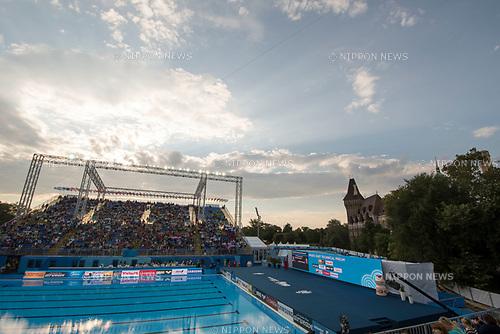 General view, JULY 15, 2017 - Synchronized Swimming : 17th FINA World Championships 2017 Budapest at City Park - Varosliget Lake in Budapest, Hungary. (Photo by Enrico Calderoni/AFLO)