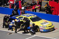 Apr 25, 2009; Talladega, AL, USA; NASCAR Nationwide Series driver Joe Nemechek pits during the Aarons 312 at the Talladega Superspeedway. Mandatory Credit: Mark J. Rebilas-