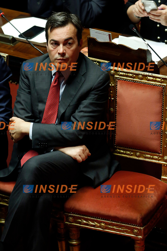 Minister of European Affairs Vincenzo Amendola<br /> Rome September 10th 2019. Senate. Discussion and Trust vote at the new Government. <br /> Foto  Samantha Zucchi Insidefoto