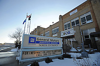 A shuttered GM plant is seen in Janesville, Wisconsin on December 24, 2008. On Christmas, 2,300 workers were laid off in a sign of the collapsing American auto industry and the study progression of American consumers to foreign-made cars.