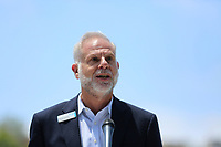May 3 2019. Carlsbad, CA. | Michael Hopkins of Jewish Family Services talks at Community Call to Action Led by Community Leaders and Local Elected Officials in Response to Poway Shooting held at Alga Norte Community Park in Carlsbad. | Photos by Jamie Scott Lytle. Copyright.
