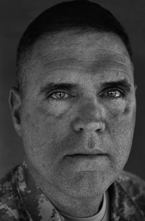 Colonel Jeff Bannister, 43. Rome, GA. Commander, 2nd Brigade 2nd Infantry Division. Taken at Camp Liberty, Baghdad on Friday May 25, 2007.