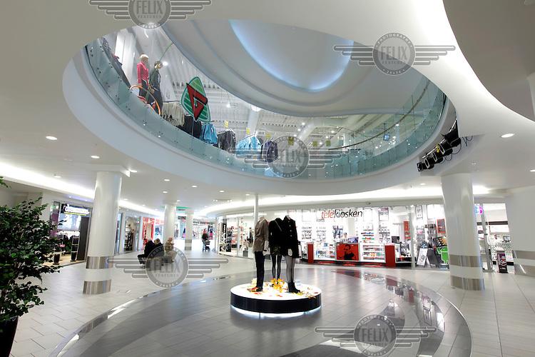 Gulskogen shopping center. .©Fredrik Naumann/Felix Features