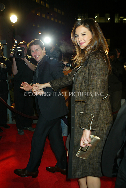 WWW.ACEPIXS.COM . . . . .  ....December 14 2005, New York City....Tom Cruise and his pregnant girlfriend Katie Holmes attended a Church of Scientology benefit for a program that claims to be healing firefighters and other workers who were exposed to toxic smoke during the World Trade Centre attack on 9/11/2001 at the Tribeca Rooftop in Manhattan.....Please byline: JENNIFER L GONZELES - ACEPIXS.COM.... *** ***..Ace Pictures, Inc:  ..Philip Vaughan (212) 243-8787 or (646) 769 0430..e-mail: info@acepixs.com..web: http://www.acepixs.com