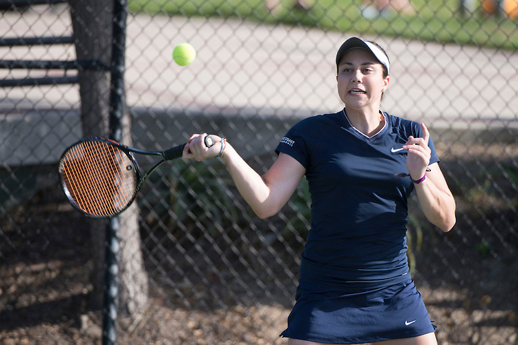 April 23, 2014; San Diego, CA, USA; Gonzaga Bulldogs player Katie Edwards during the WCC Tennis Championships at Barnes Tennis Center.