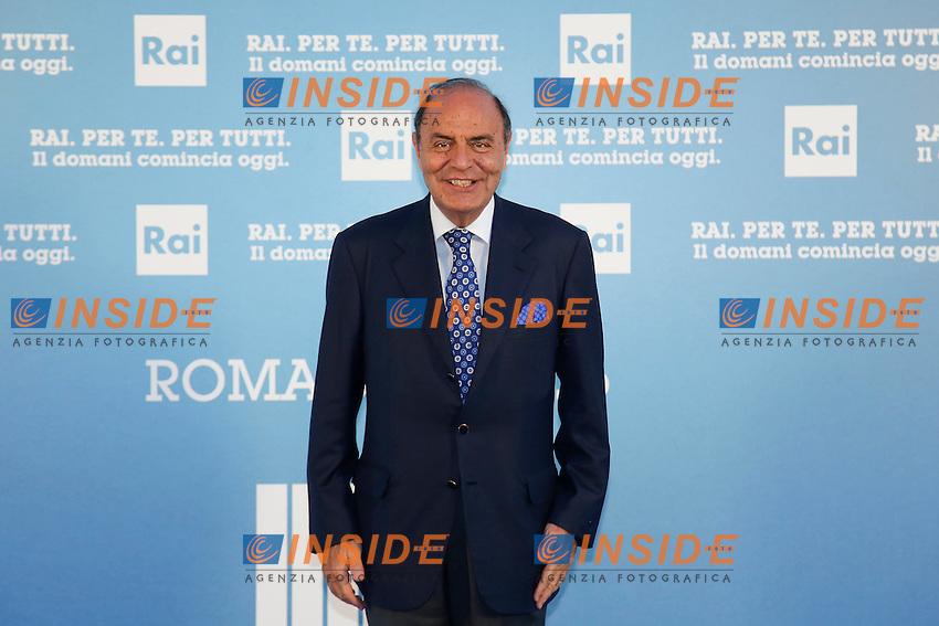 Bruno Vespa<br /> Roma 05-07-2016 Salone delle Fontane. Presentazione dei palinsesti RAI per l'autunno 2016.<br /> Photo Samantha Zucchi Insidefoto