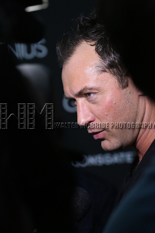 Jude Law attends 'Genius' New York premiere at Museum of Modern Art on June 5, 2016 in New York City.