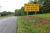 A sign near the junction of Arkansas 59 and Arkansas 220 tells motorists what lies ahead as they drive east on Arkansas 220.<br />