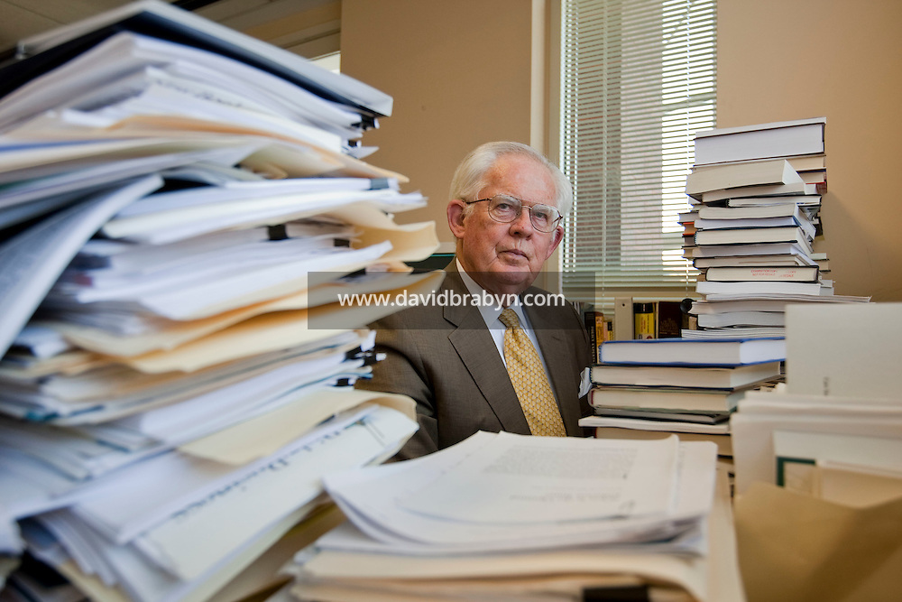 Portrait session with William A. Niskanen, Chairman Emeritus of the Cato Institute, in his office, 28 April 2009, Washington DC, USA.